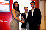 Picture of award winner at the Eurekahedge Asian Hedge Fund Awards 2009