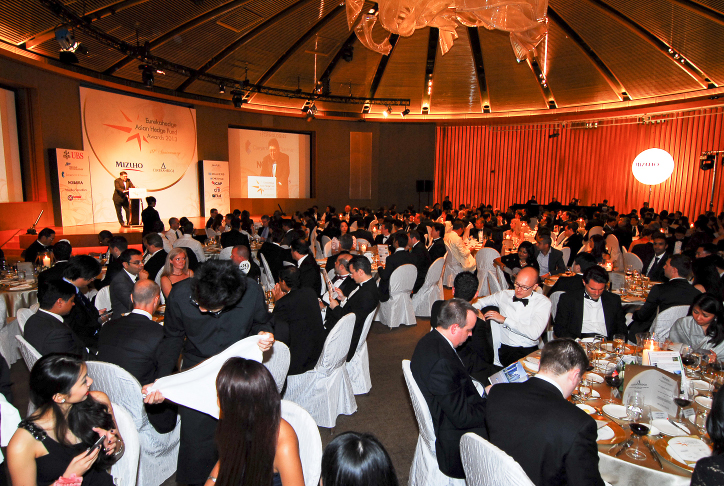 Picture of the Ballroom in Capella at the Eurekahedge Asian Hedge Fund Awards 2013