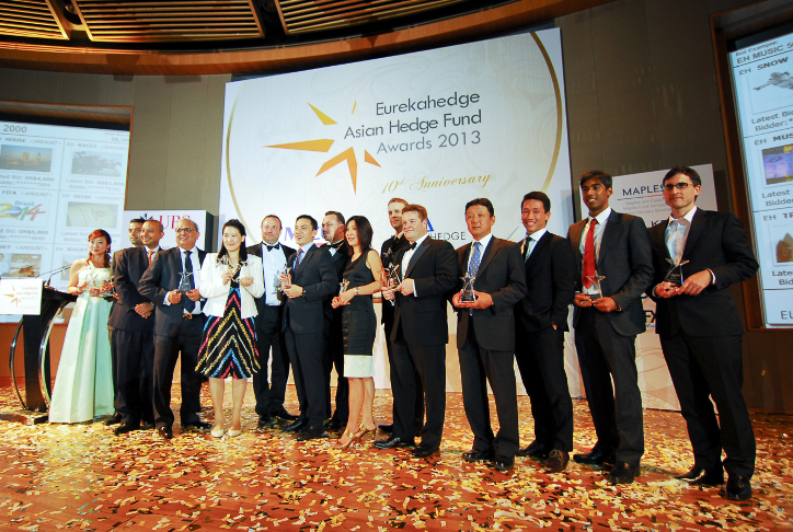 Picture of all winners at the Eurekahedge Asian Hedge Fund Awards 2013