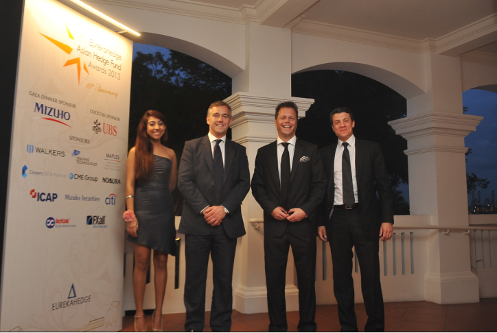 Picture of guests taken outside Ballroom of Capella at the Eurekahedge Asian Hedge Fund Awards 2013