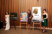 Picture of the auction artworks with the 3 Misses Singapore at the Eurekahedge Asian Hedge Fund Awards 2014